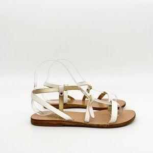 ANCIENT GREEK SANDALS Niove Vatchetta White Sandal